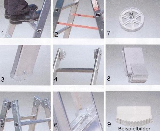 3x11 alu mehrzweckleiter 3teilig nr 2076111 stehleiter ebay. Black Bedroom Furniture Sets. Home Design Ideas